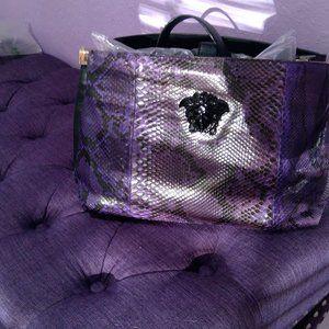 Versace Purple Python Tote